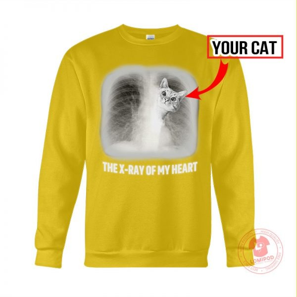 The x ray of my heart personalized cat 3D hoodie 3