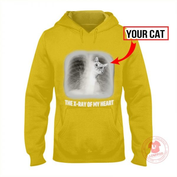 The x ray of my heart personalized cat 3D hoodie 4