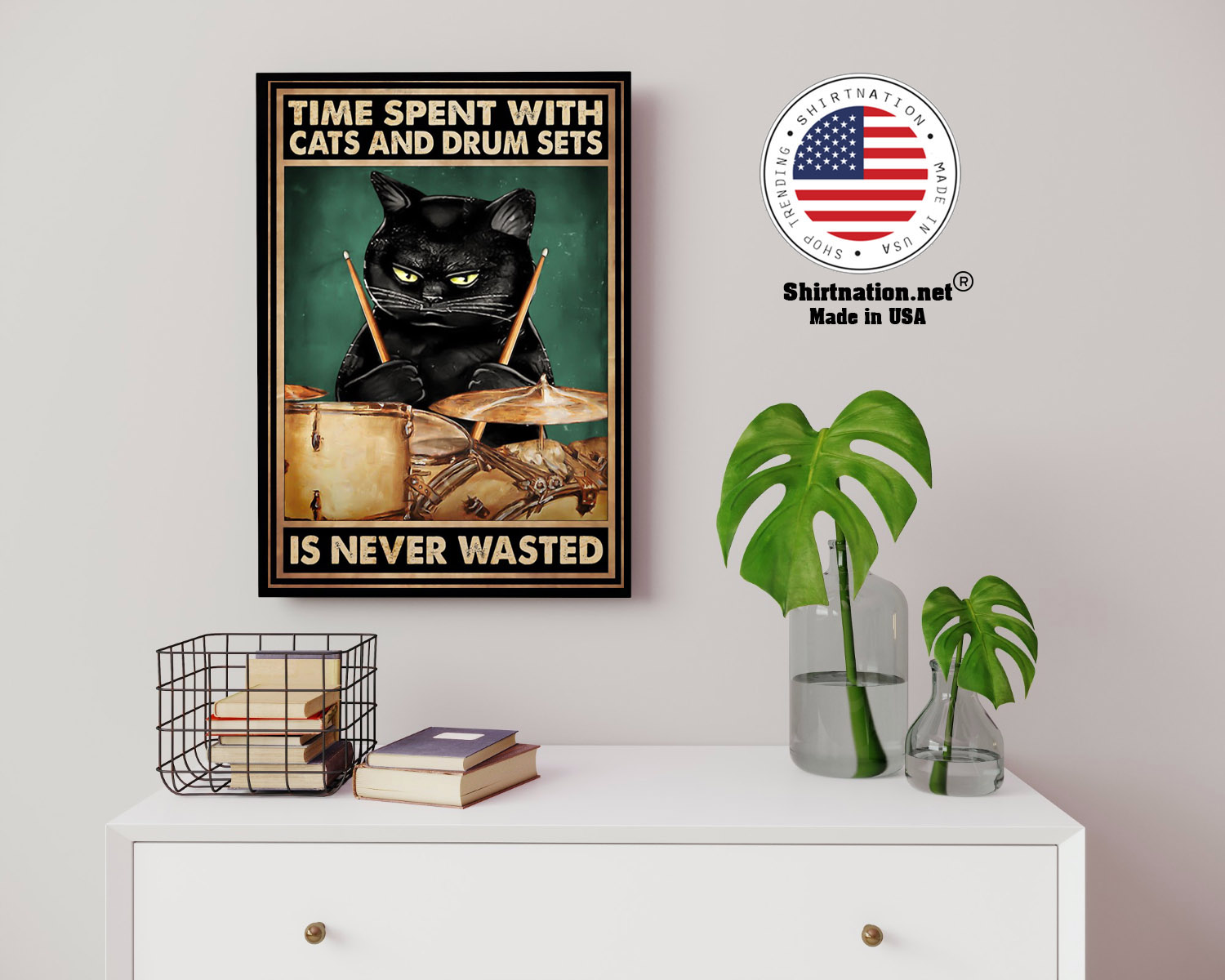 Time spent with cats and drum sets is never wasted poster 14