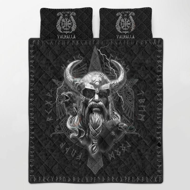 Viking mjolnir Odin bedding set 4