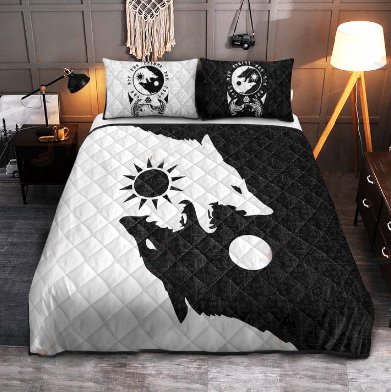 Viking skoll and hati bedding set 4