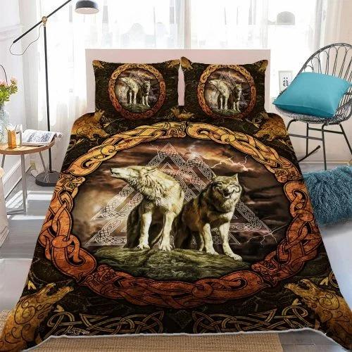 Viking wolf bedding set 1