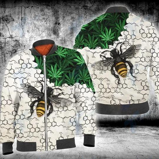 Weed bee happy dictionary 3D hoodie 3