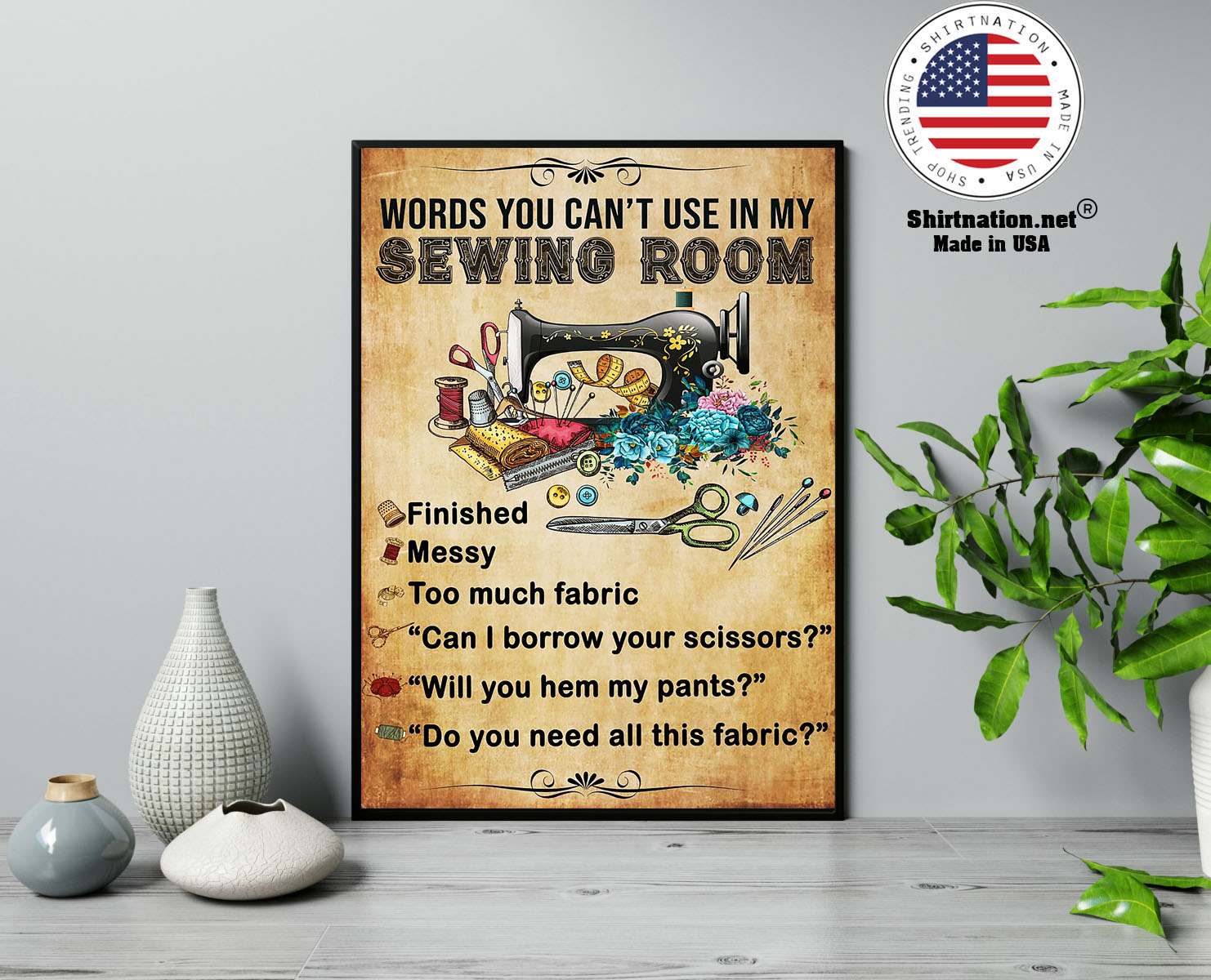Words you cant use in my sewing room poster 13