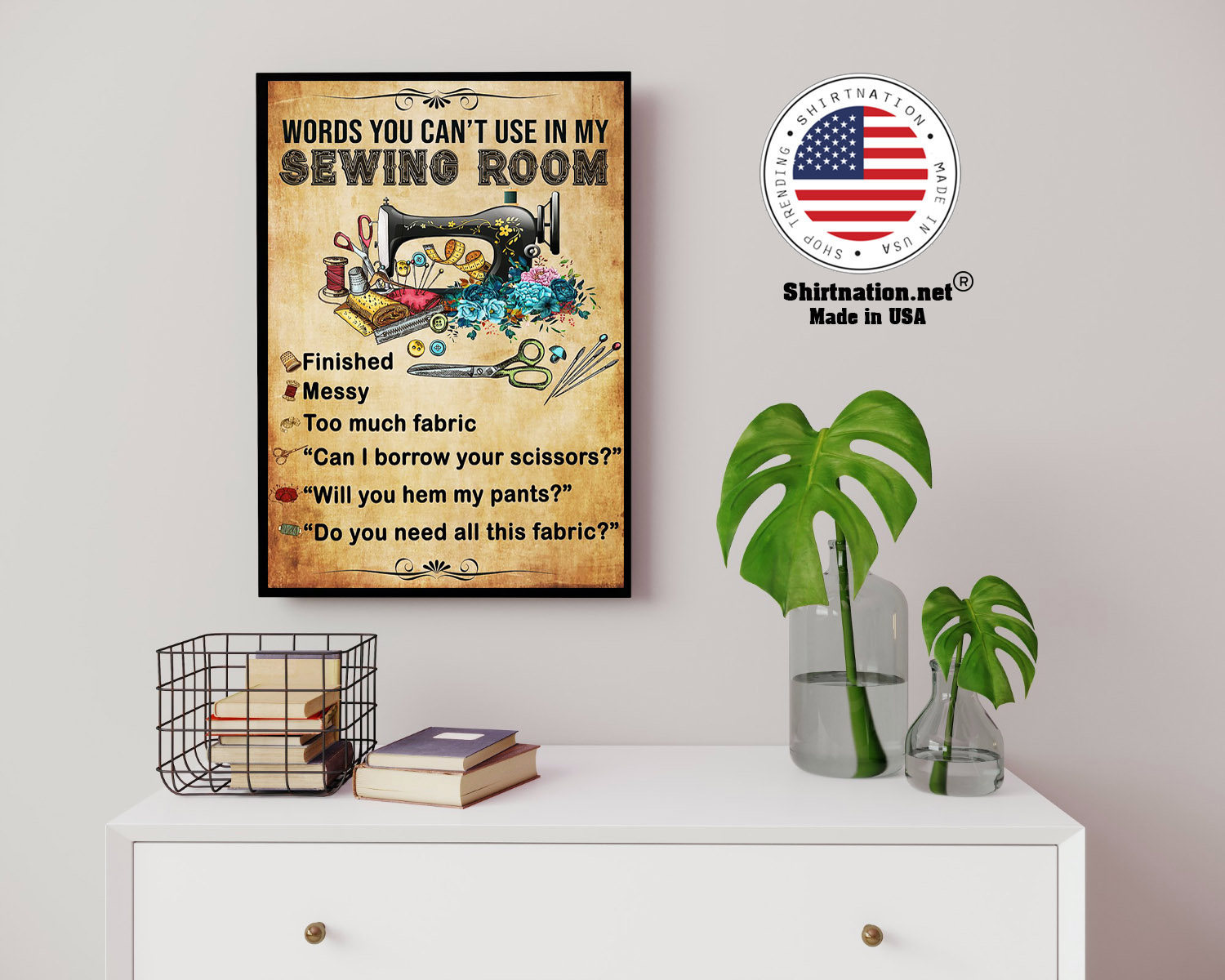 Words you cant use in my sewing room poster 14