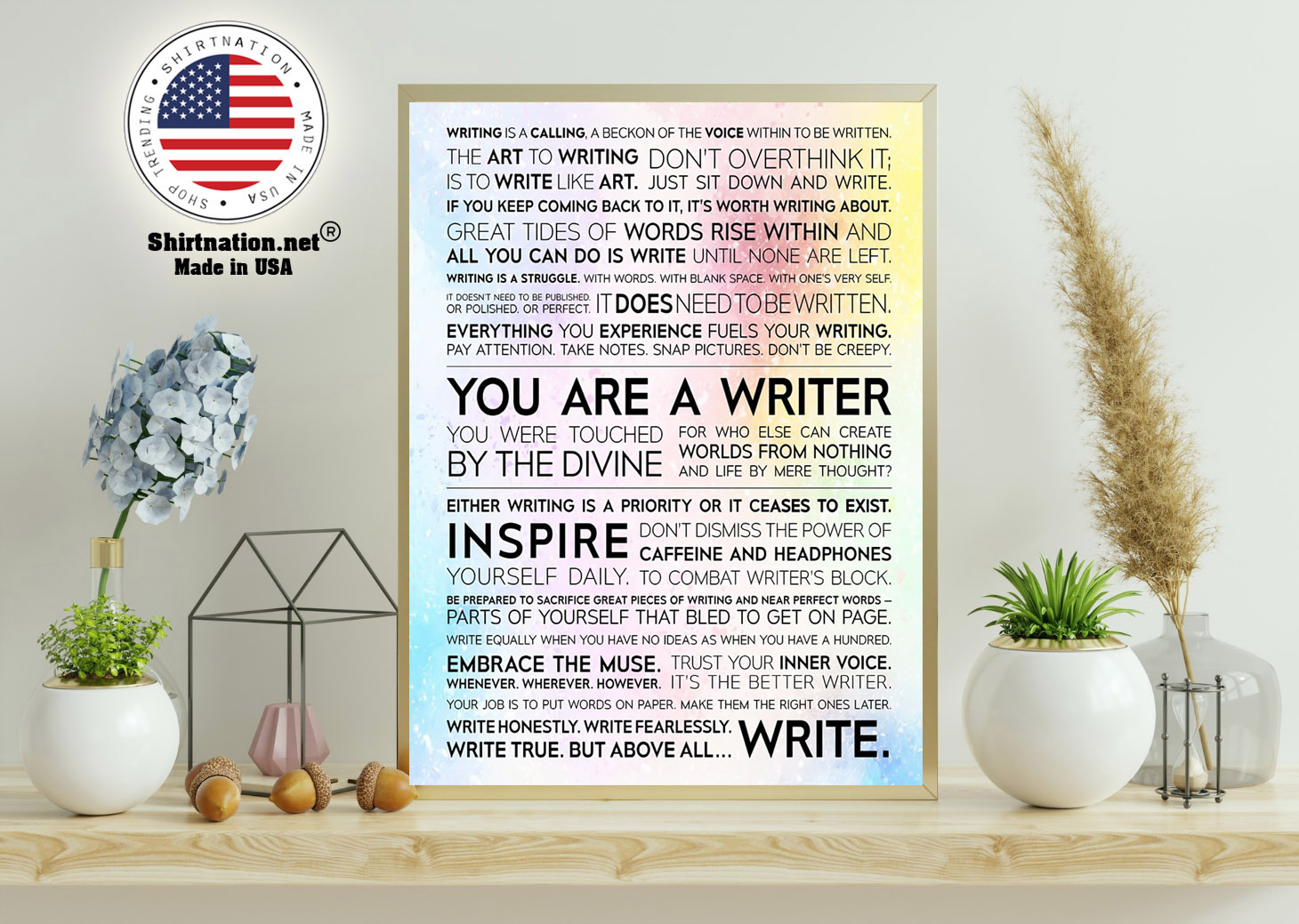 Writer Manifesto writing is a calling a beckon of the voice poster 11