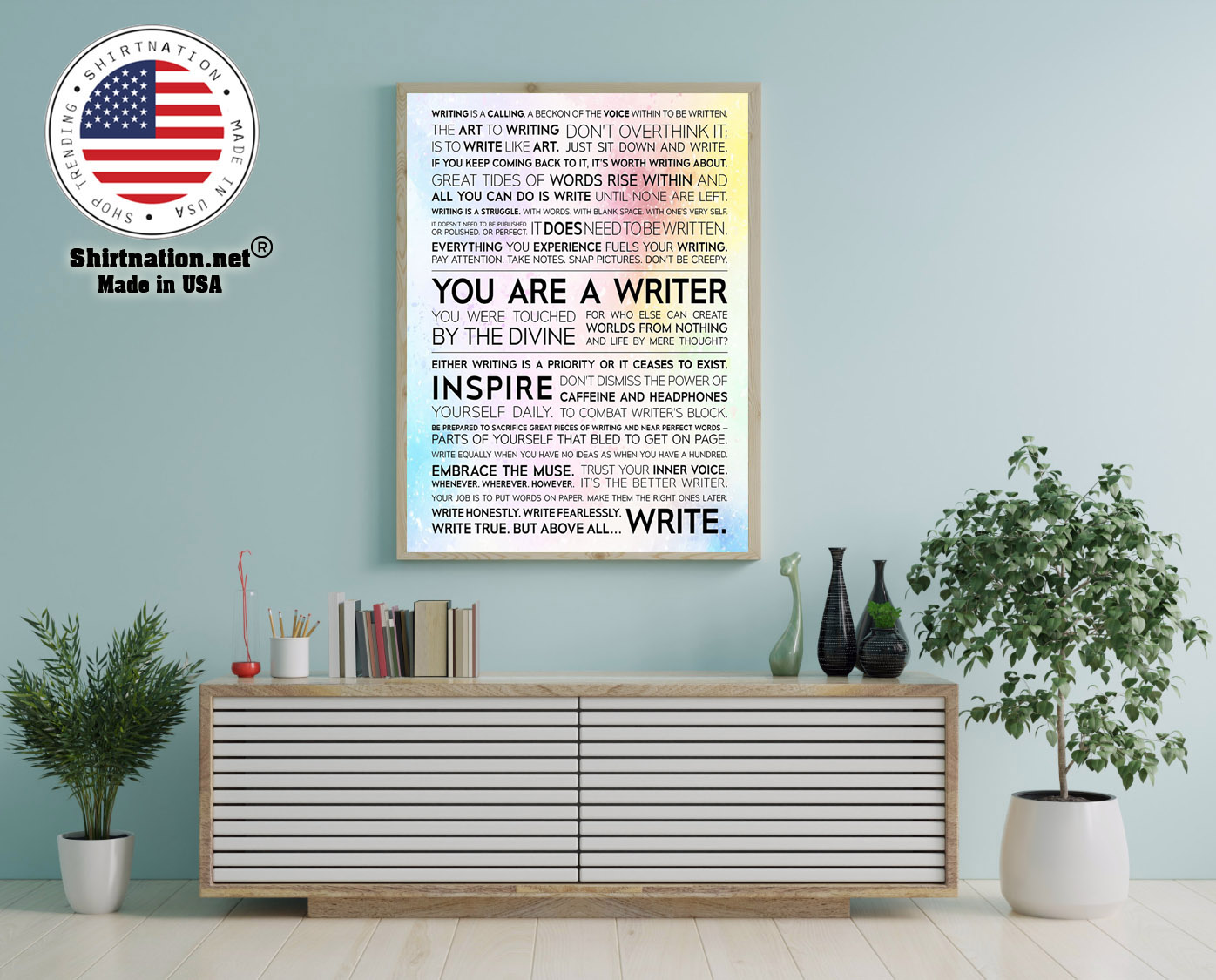 Writer Manifesto writing is a calling a beckon of the voice poster 12
