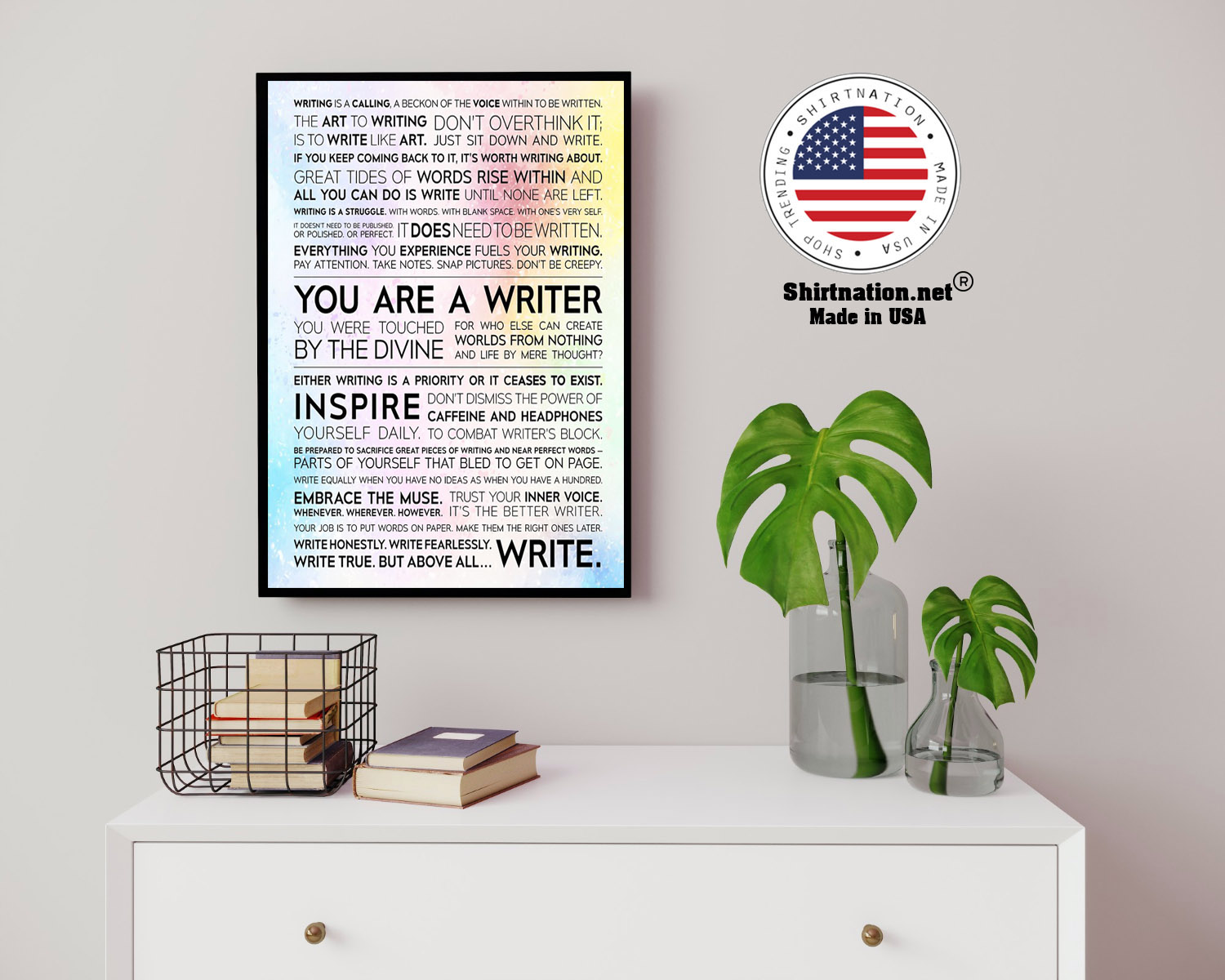 Writer Manifesto writing is a calling a beckon of the voice poster 14 1
