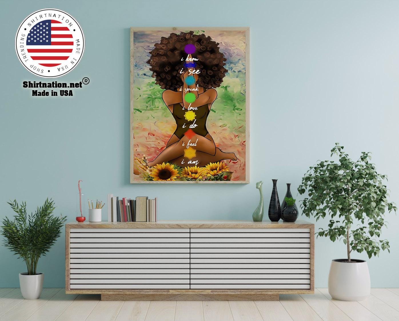 Yoga african american wall art poster 12