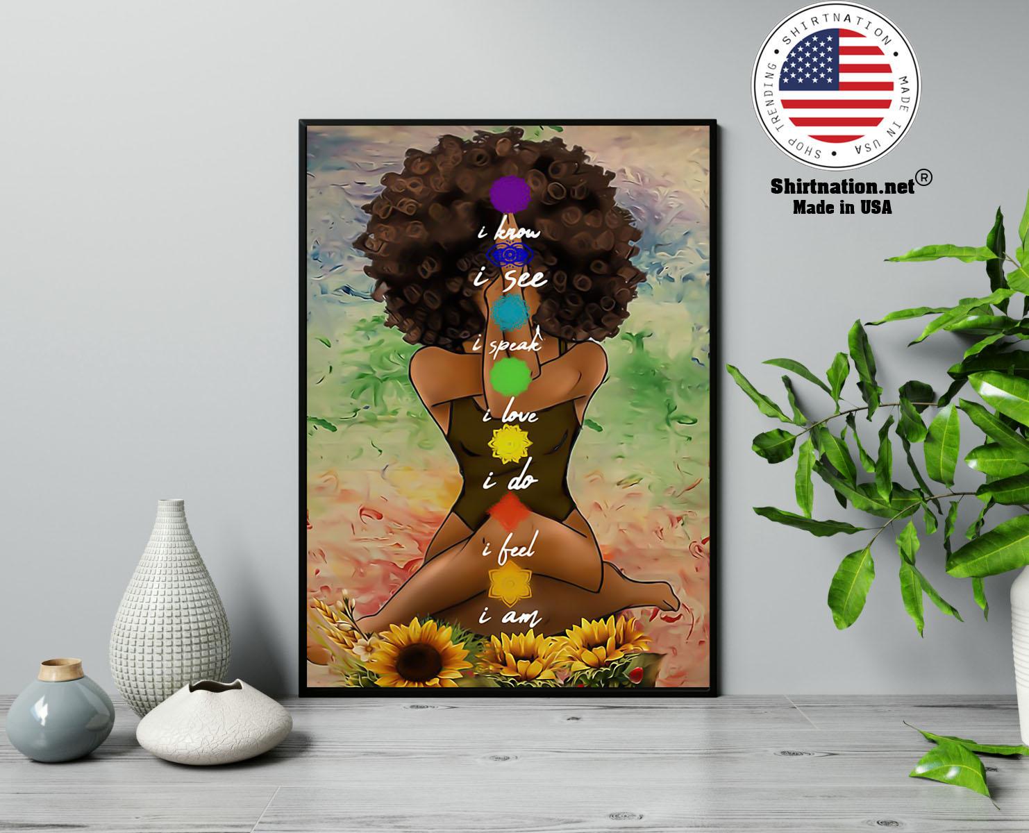 Yoga african american wall art poster 13