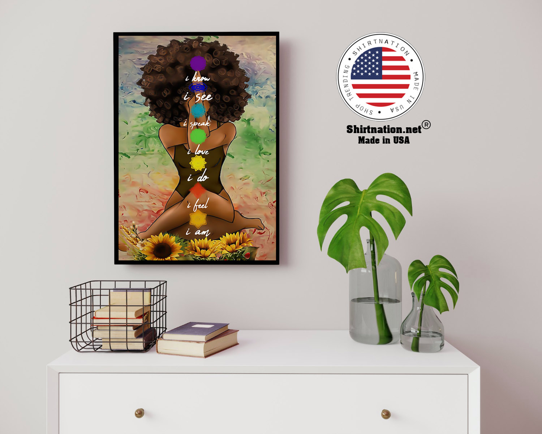 Yoga african american wall art poster 14 1
