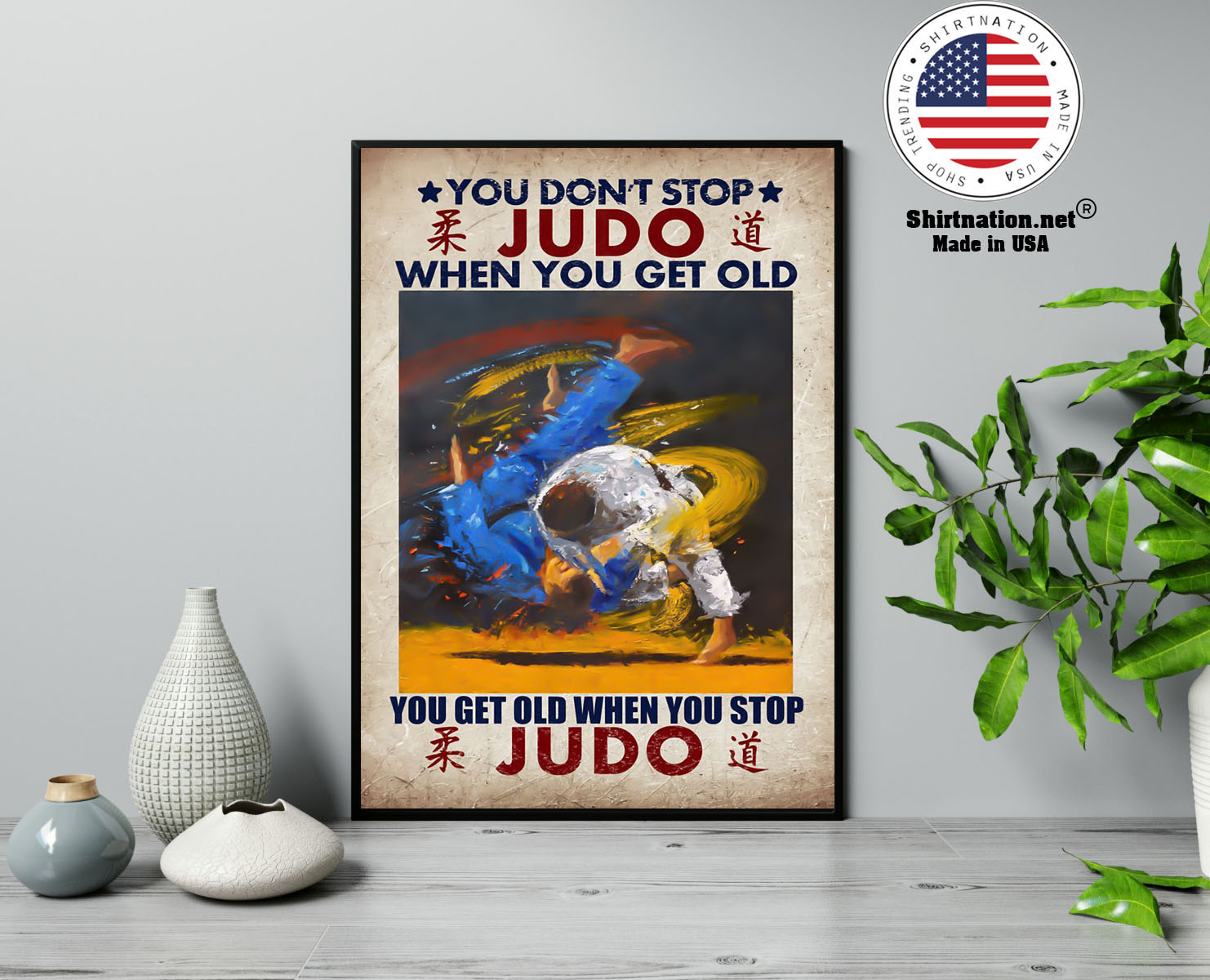 You dont stop judo when you get old canvas poster 13