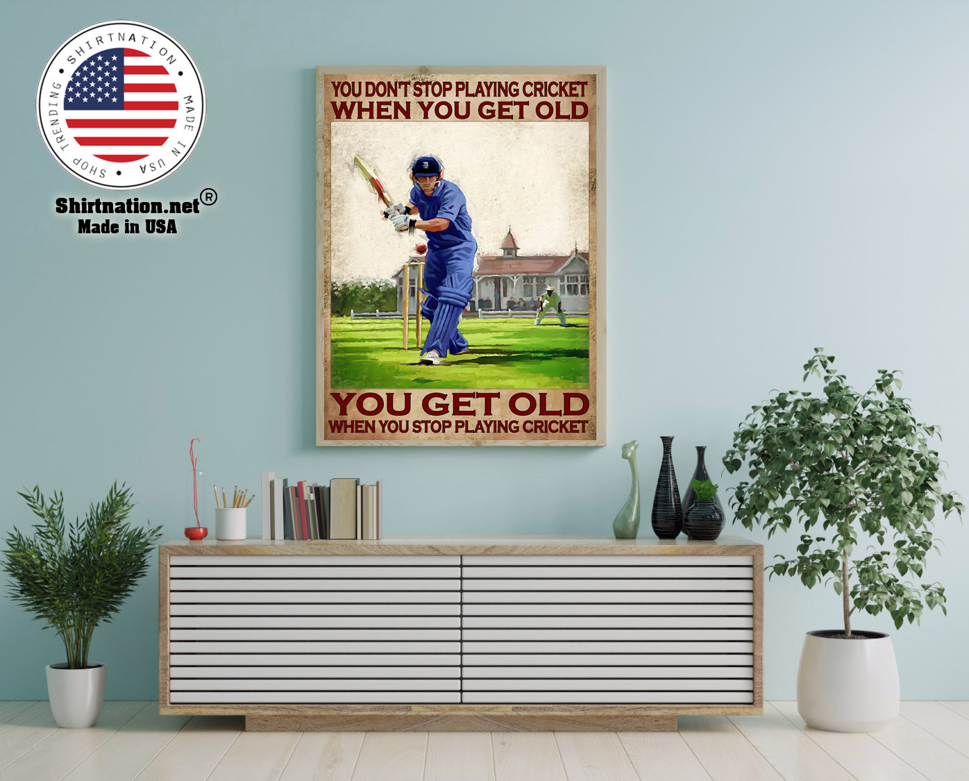 You dont stop playing cricket when you get old poster 12