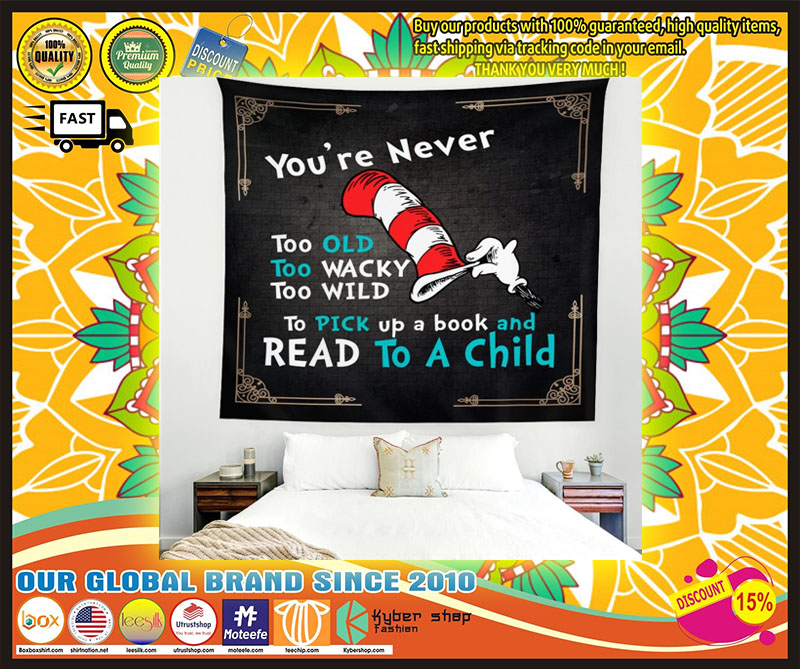 Youre never too old too wacky too wild to pick up a book blanket 3
