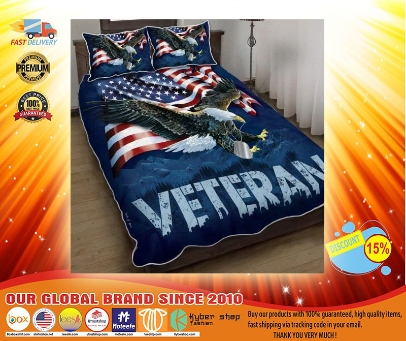 American eagle veteran bedding set4