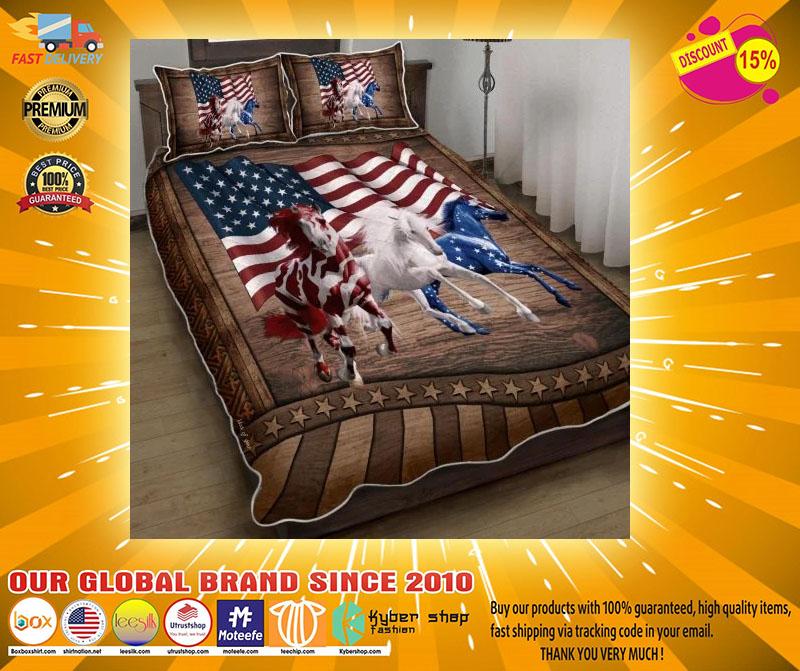 American Running Horses bedding set4