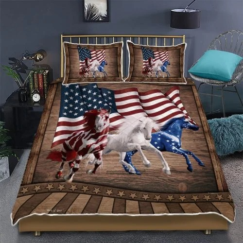American Running Horses bedding set3