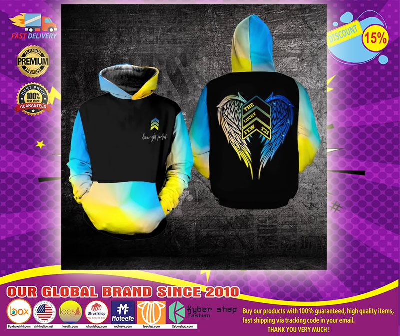Awareness Down night perfect the lucky few 3D hoodie1