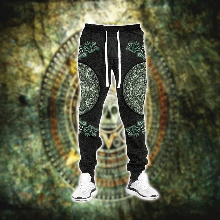 Aztec jungle 3D hoodie and sweatpant3