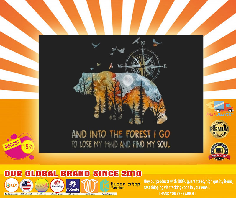 Bear and into the forest I go to lose my mind stickers4