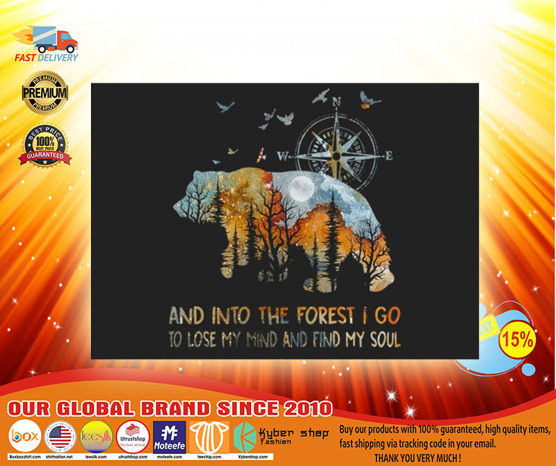 Bear and into the forest I go to lose my mind stickers3