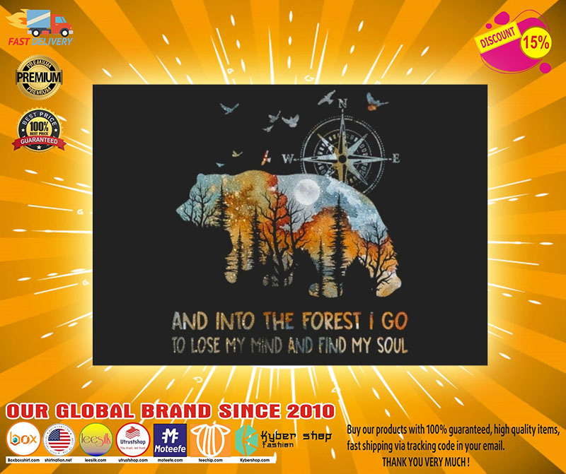 Bear and into the forest I go to lose my mind stickers2