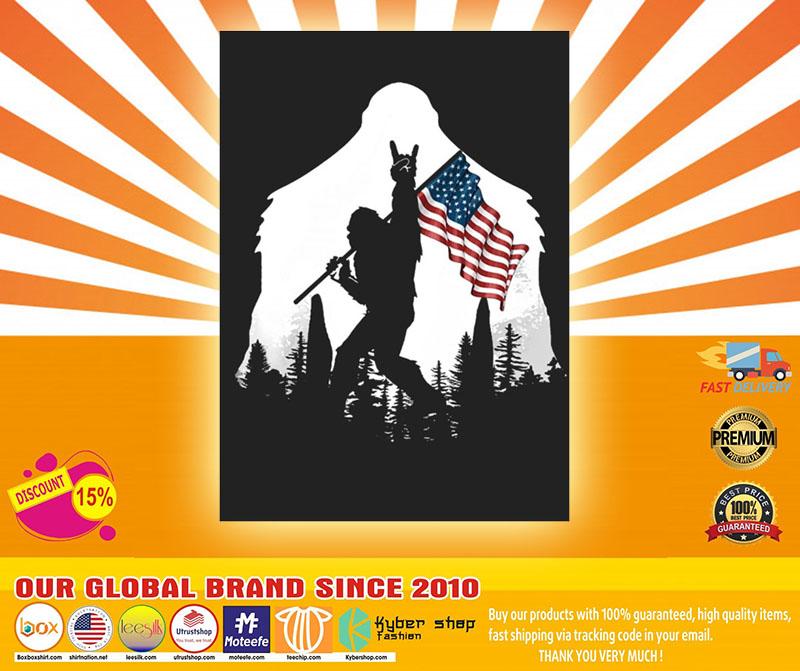 Bigfoot American flag sticker4