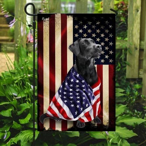 Black labrador retriever american patriot flag3