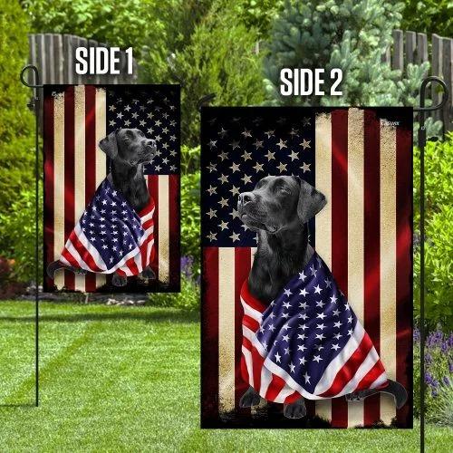 Black labrador retriever american patriot flag2