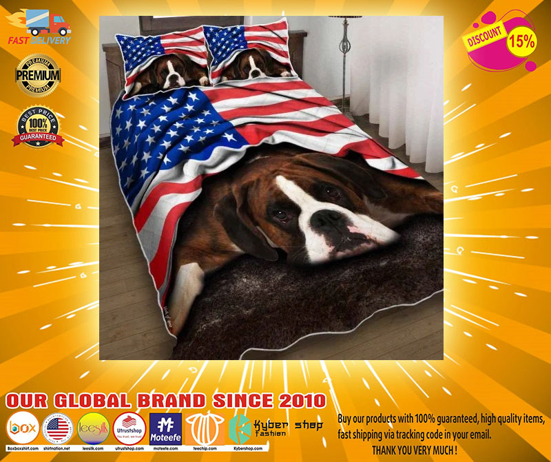 Boxer American patriot bedding set4