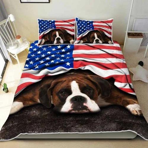 Boxer American patriot bedding set3