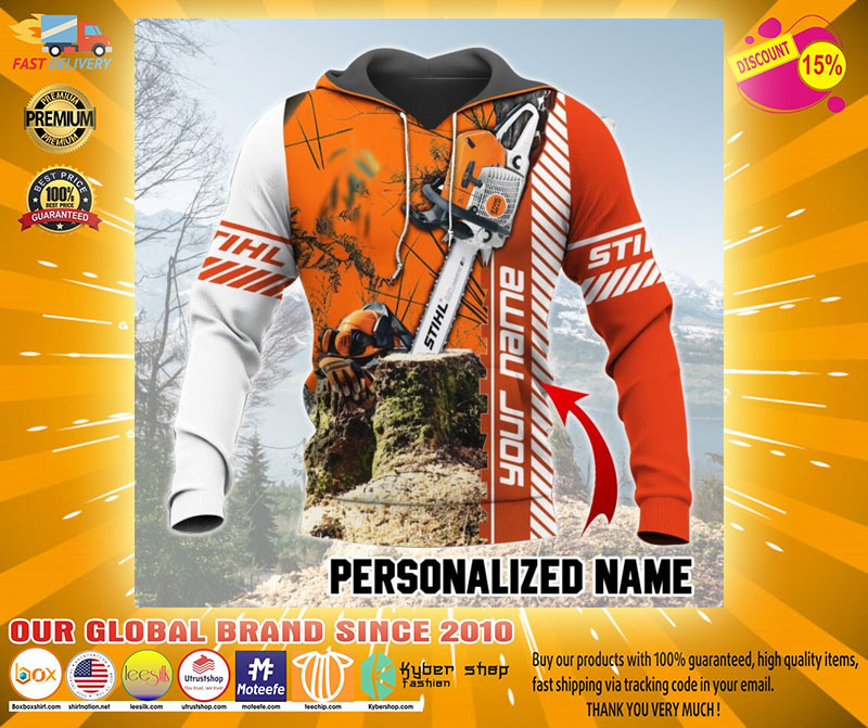 Chainsaw custom name 3D hoodie3