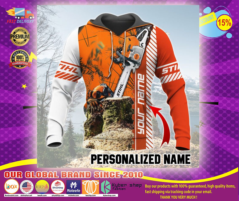 Chainsaw custom name 3D hoodie1