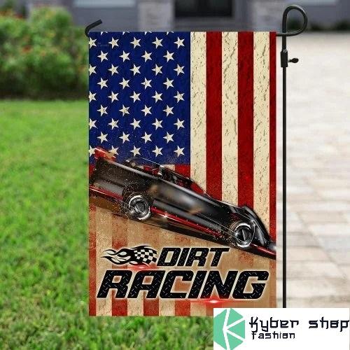 Dirt racing american flag3