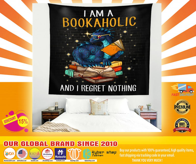 Dragon I am a bookaholic and I regret nothing blanket4