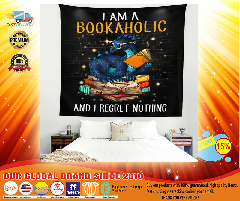 Dragon I am a bookaholic and I regret nothing blanket3