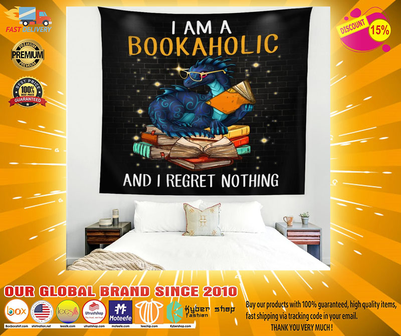 Dragon I am a bookaholic and I regret nothing blanket2