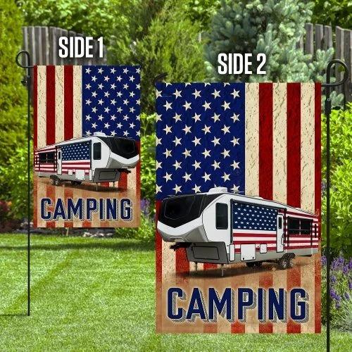 Fifth wheel camper American flag2