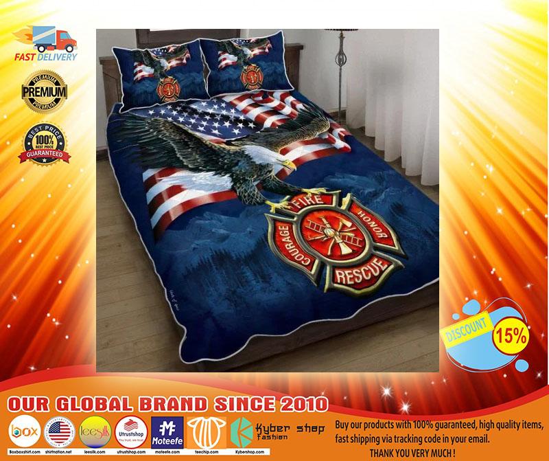 Firefighter American eagle bedding set4