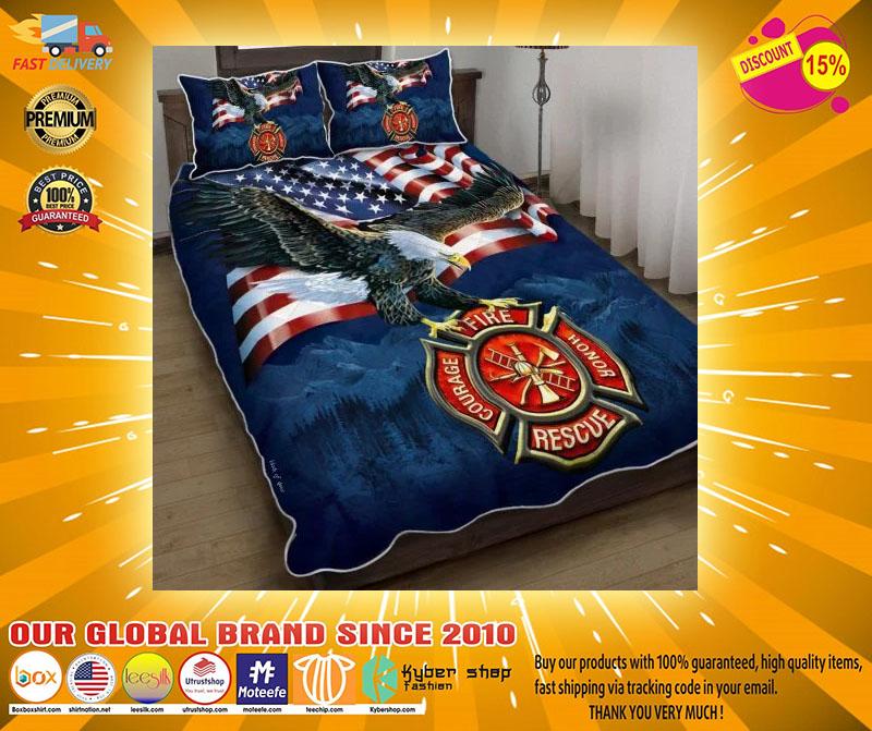 Firefighter American eagle bedding set3