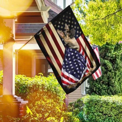 German Shepherd American patriot flag4