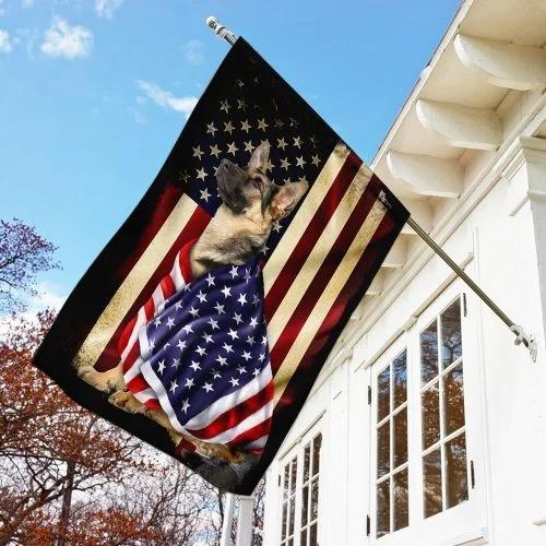German Shepherd American patriot flag3