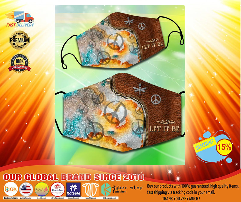 Hippie Peace Let it be facemask3