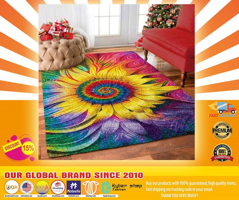 Hippie Sunflower rug4