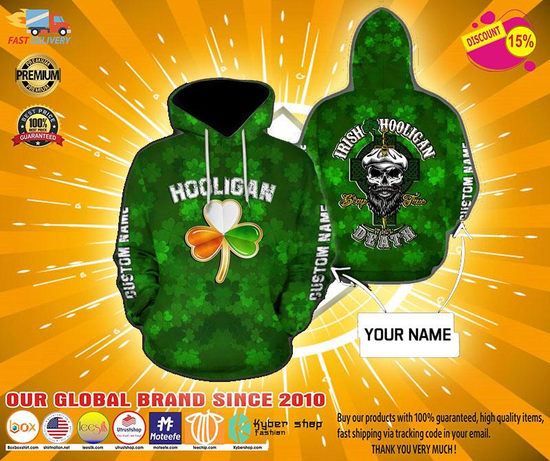 Hooligan Irish custom name 3D hoodie2