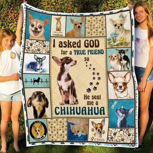 I ask God and he send me chihuahua bedding set3