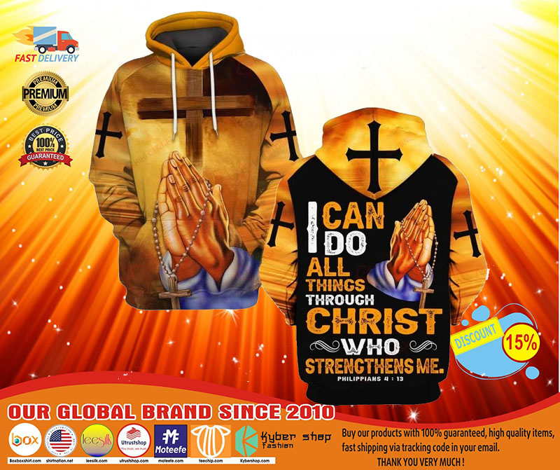 I can do all things through christ who strength me 3D hoodie3