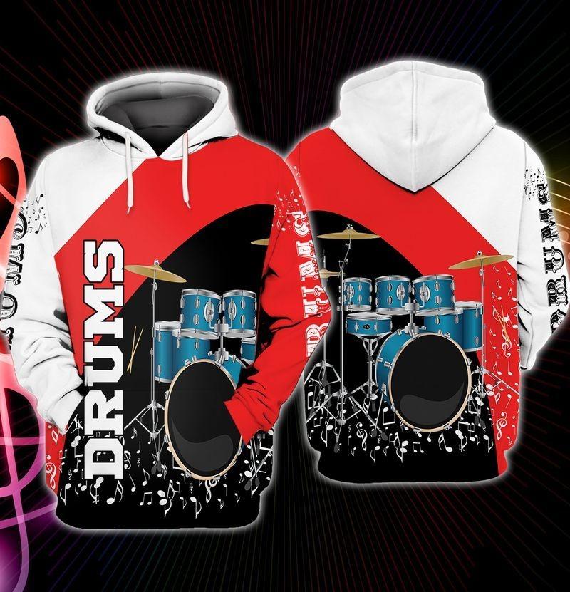 I love Drummer 3D hoodie11