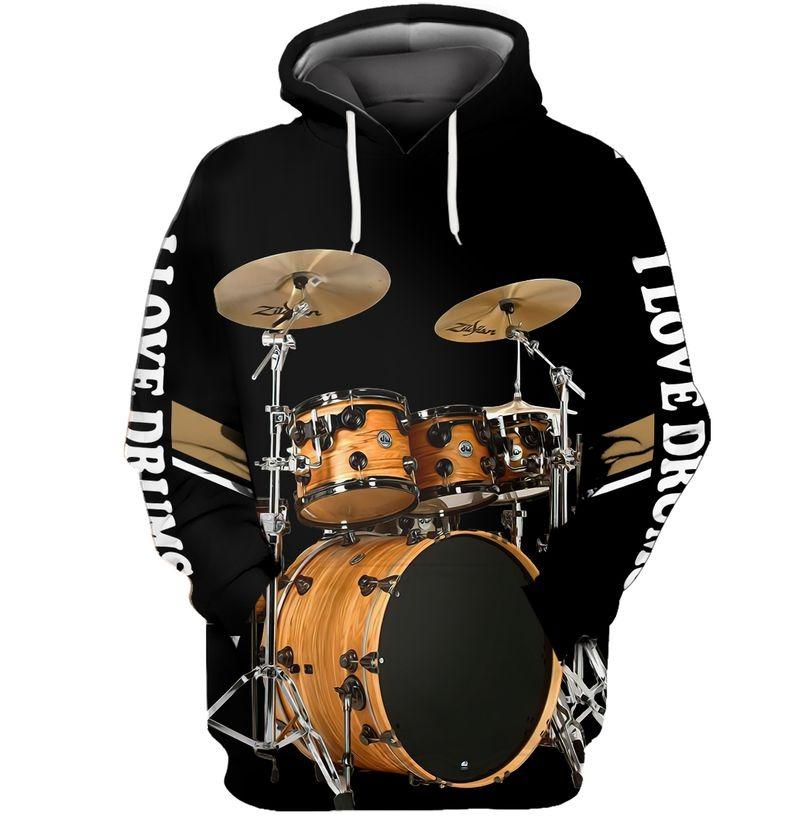 I love Drummer 3D hoodie10