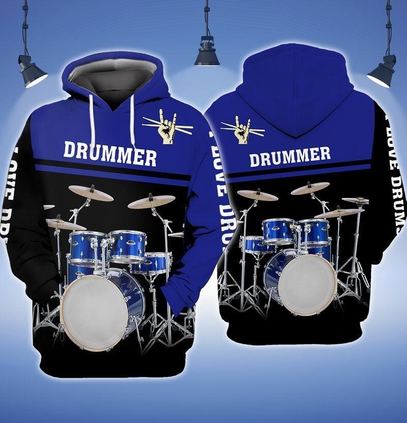 I love Drummer 3D hoodie9